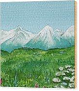 Alaska Splendor Wood Print