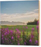 Alaska Summer Love Wood Print
