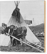 Alaska: Tepee, C1916 Wood Print