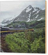 Alaska Train Wood Print