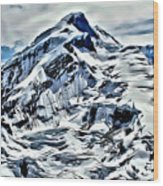 Alaska Volcano Wood Print