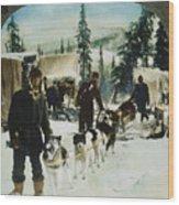 Alaskan Dog Sled, C1900 Wood Print