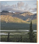 Alaskan Glacial Valley Wood Print
