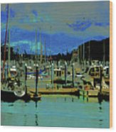 Alaskan Harbor 7 Wood Print
