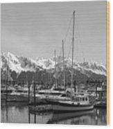 Alaskan Harbor Wood Print