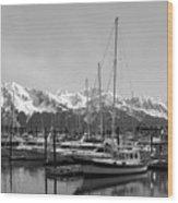 Alaskan Harbor Wood Print