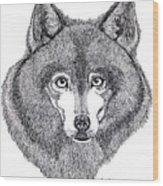 Alaskan Husky Wood Print