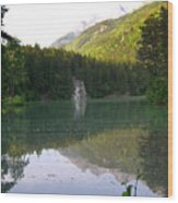Alaskan Lake Wood Print
