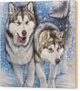 Alaskan Malamute Wood Print
