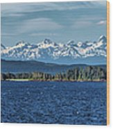 Alaskan Mountain Panorama Wood Print