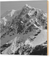 Alaskan Peak Wood Print