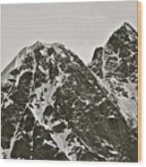 Alaskan Peaks Wood Print