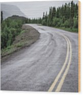 Alaskan Road Wood Print