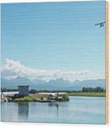 Alaskan Seaplane Base Wood Print
