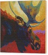 Alaskan Spirit - Moose Wood Print by Marion Rose