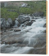 Alaskan Stream Wood Print