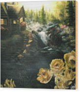 Alaskan Summer Day Wood Print