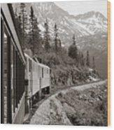 Alaskan Train Wood Print