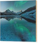 Alaskan Winter Night By Adam Asar 2 Wood Print