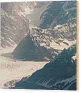 Alasks Glacier Range Denali Nation Park  Wood Print