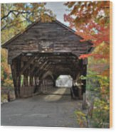 Albany Covered Bridge Wood Print