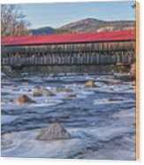 Albany Covered Bridge-white Mountains Of New Hampshire Wood Print