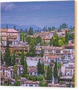 Albayzin View Granada Wood Print