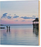 Outer Banks,nc,sunset Wood Print