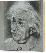 Albert Einstein Wood Print by Anastasis  Anastasi