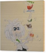 Albert Einstein Balancing Act Wood Print