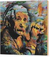 Albert Einstein - By Prar Wood Print
