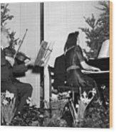 Albert Einstein Giving A Violin Recital Wood Print