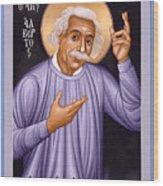 Albert Einstein  Scientist, Humanitarian, Mystic - Rlabe Wood Print