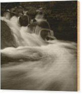 Alberta Falls Wood Print
