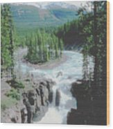 Alberta Island Torrent Wood Print