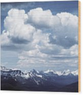Alberta Mountain Panorama Wood Print