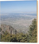 Albuquerque And The Rio Grande Wood Print
