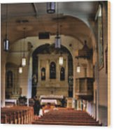 Albuquerque Church Wood Print