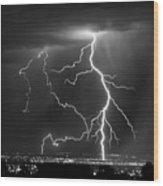 Albuquerque Thunderstorm Wood Print