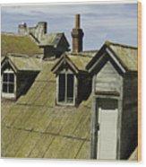 Alcaltraz Roofline Wood Print