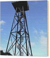 Alcatraz Guard Tower - San Francisco Wood Print