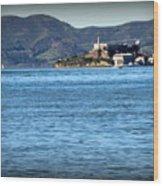Alcatraz Wood Print