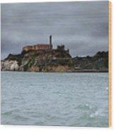 Alcatraz Storm Wood Print