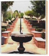 Alcazaba Fountain Wood Print
