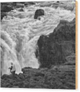 Aldeyjarfoss Waterfall Iceland 3381 Wood Print