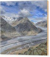 Aletsch Glacier, Switzerland Wood Print