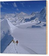 Alex Lowe On Mount Bearskin 2850 M Wood Print