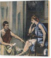 Alexander & Aristotle Wood Print
