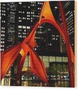 Alexander Calder's Flamingo Wood Print