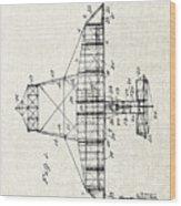 Alexander Graham Bell Airplane Patent Print, Plane Patent Blueprint Wood Print